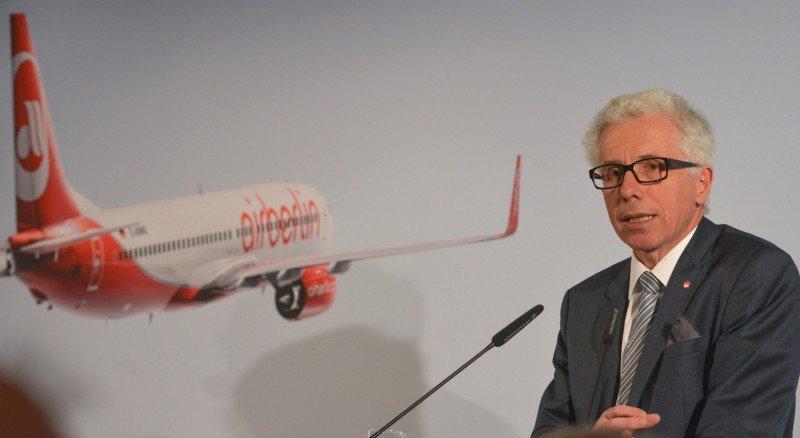 El CEO de airberlin, Wolfgang Prock-Schauer, hizo anuncios en el marco de la ITB 2014.