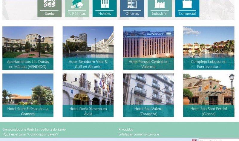 La Sareb vende hoteles en su nueva web