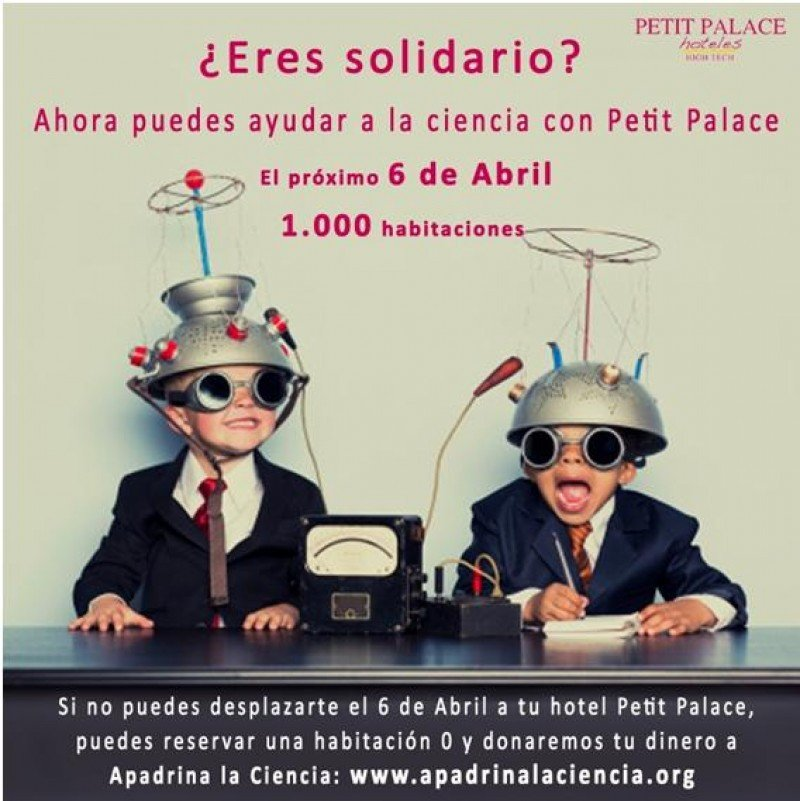 Cartel de la novedosa iniciativa de Petit Palace.