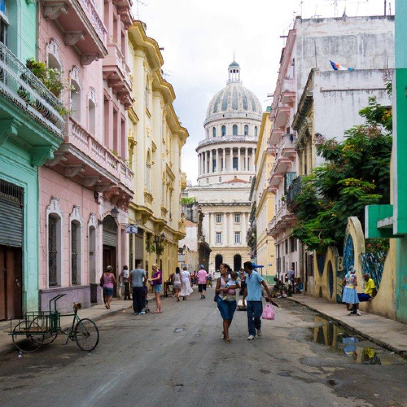 Una calle de La Habana, capital de Cuba. #shu#