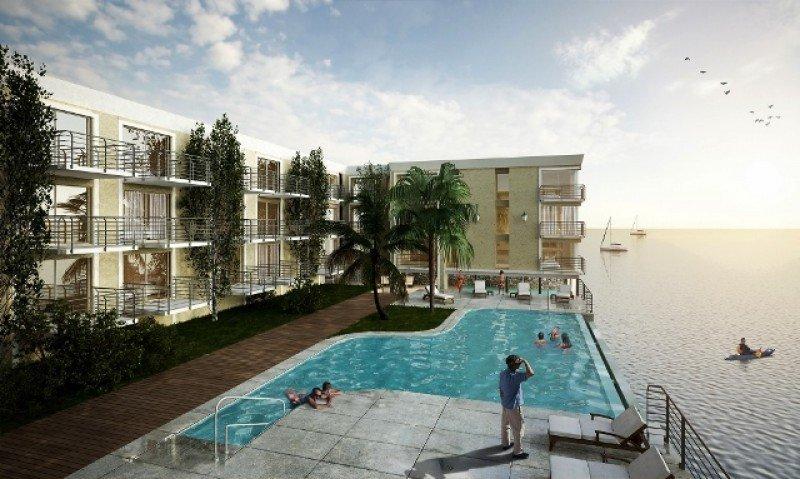 Render del proyecto de ampliación del hotel.
