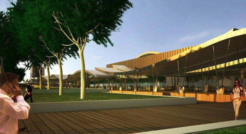 Proyecto del Centro de Convenciones y Predio Ferial de Punta del Este diseñado por el arquitecto Carlos Ott.