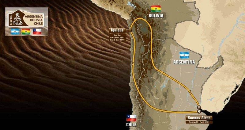 Ruta del Dakar 2015.