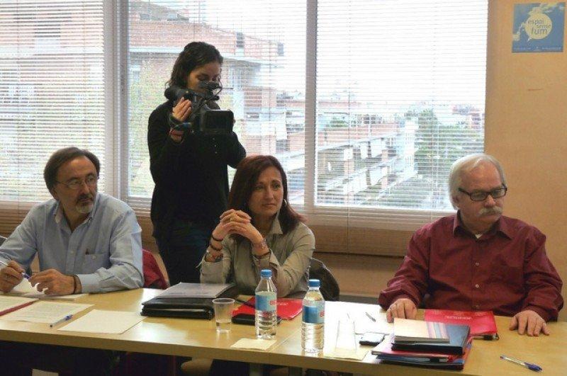 Representantes de CCOO en la mesa negociadora.