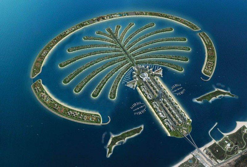 Kerzner International es uno de los promotores de la isla artificial con forma de palmera en Dubai.