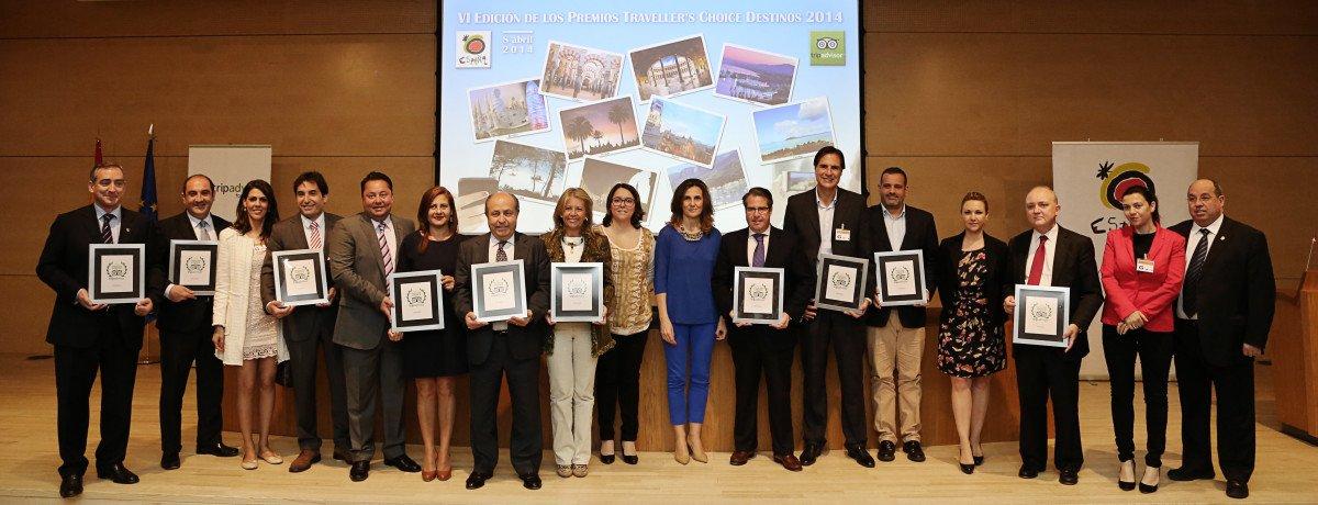 La entrega de los premios Tripadvisor se celebró ayer en la sede de Turespaña.