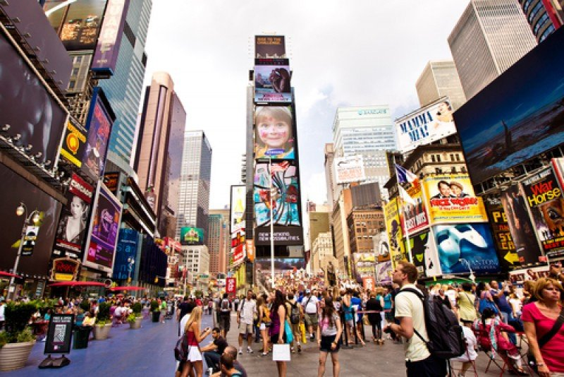Times Square, uno de los puntos más turísticos de Nueva York. #shu#