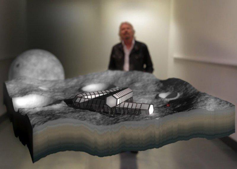 Virgin planea construir un hotel en la luna