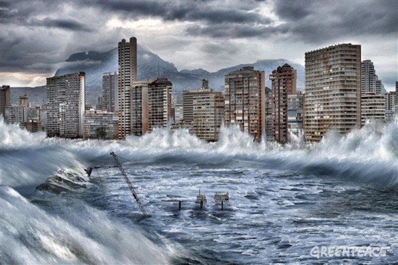 Benidorm afectado por el cambio climático a finales de siglo, según Greenpeace/ Pedro Armestre/ Mario Gómez.