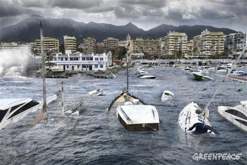 Marbella afectada por el cambio climático. según Greenpeace/ Pedro Armestre/ Mario Gómez.