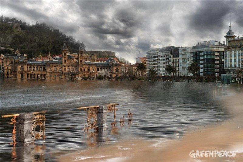 San Sebastián afectado por el cambio climático según Greenpeace/ Pedro Armestre/ Mario Gómez
