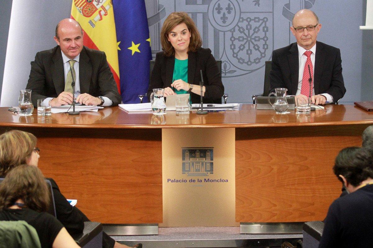 Rueda de prensa posterior al Consejo de Ministros de ayer.