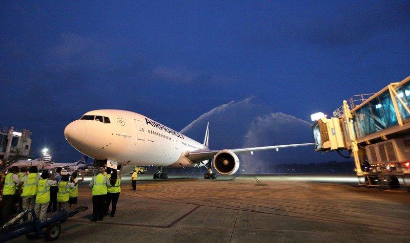 Vuelo inaugural de Air France a Panamá.