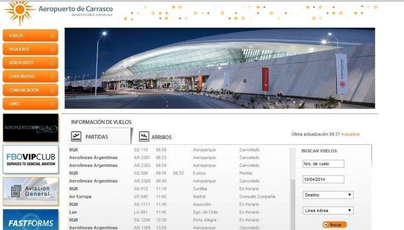 Montevideo: cancelan 18 vuelos a Ezeiza y Aeroparque por paro en Argentina