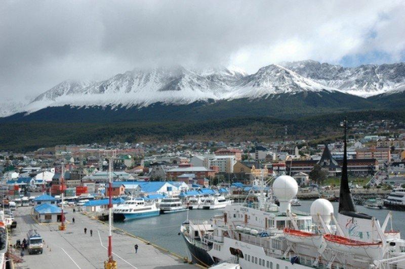 Escalas de cruceros en la ciudad de Ushuaia fueron otra vez casi 300. #shu#