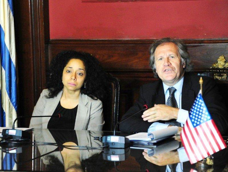 Embajadora de EE.UU. en Uruguay, Julissa Reynoso y canciller uruguayo, Luis Almagro, anunciaron detalles del encuentro Obama-Mujica.