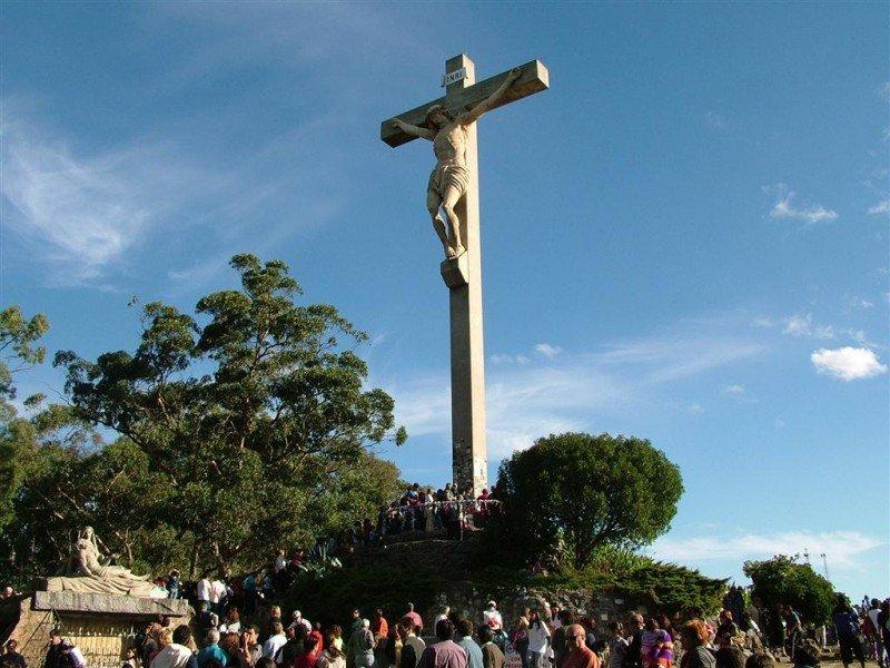 Vía Crucis en Tandil.