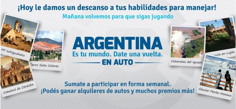 Juego online promueve alquiler de autos en Argentina