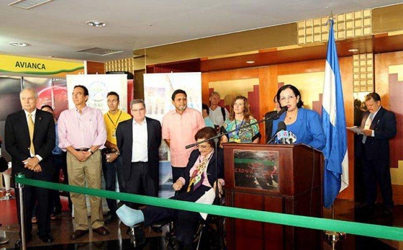 Inauguración de la feria Fenitur 2014 en Nicaragua.