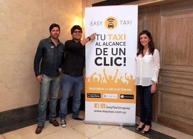 Equipo de EasyTaxi en su presentación en Montevideo.