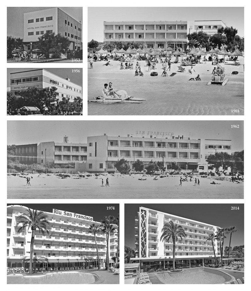 Evolución del Riu San Francisco desde su apertura en 1953 hasta la actualidad.