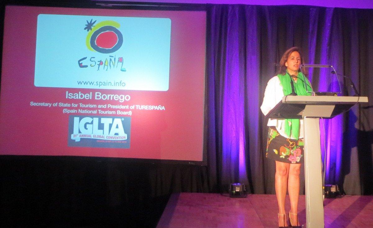 Isabel Borrego, secretaria de Estado de Turismo, inauguró la Convención Mundial del Turismo Gay.