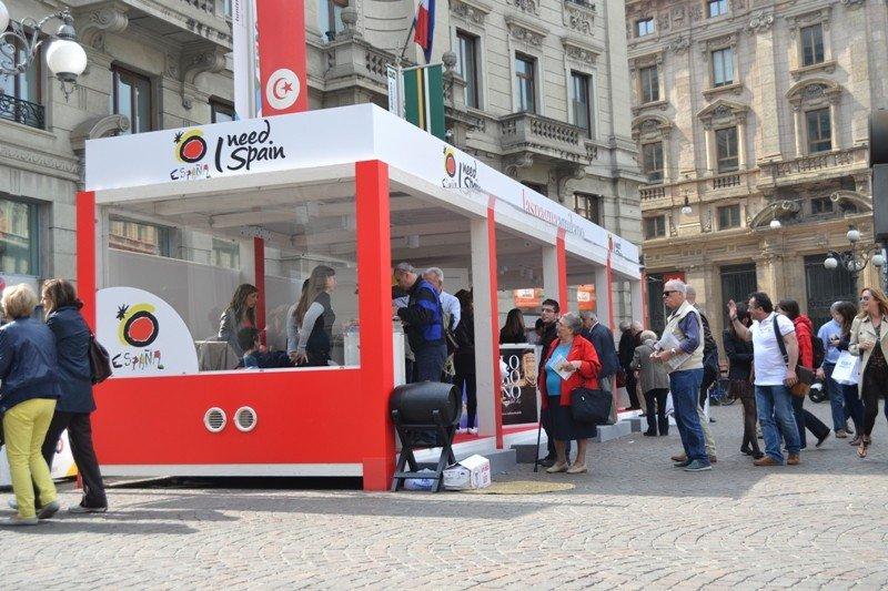 El estand de la campaña de Turespaña en Milán.