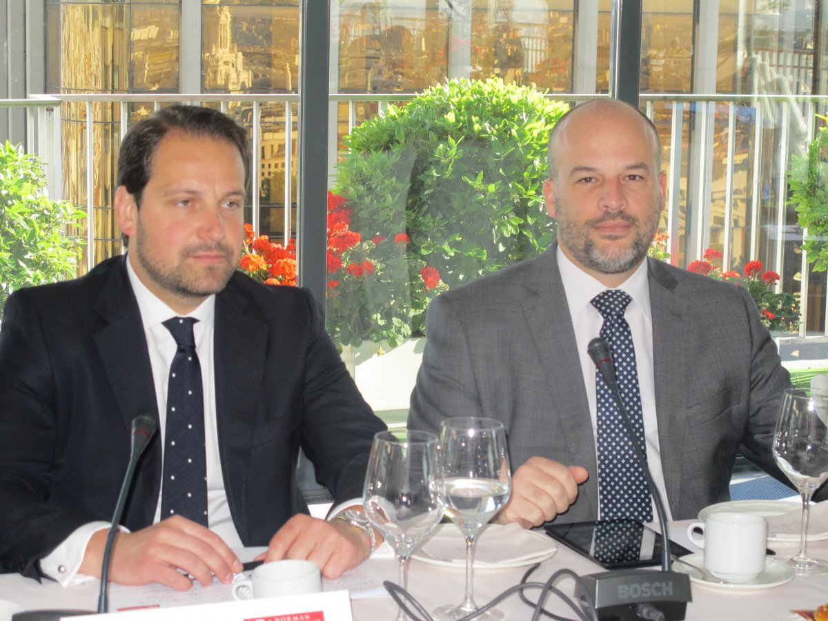 Jaime Ozores, de Norman Broadbent, y Ricard Santomà, de TSI-Turismo Sant Ignasi.