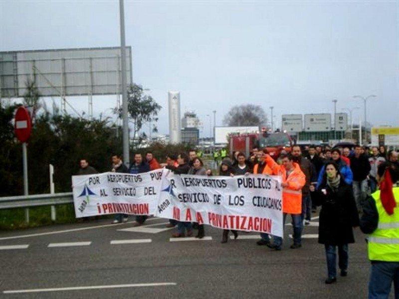 Anteriores movilizaciones convocadas en protesta por la privatización de Aena.