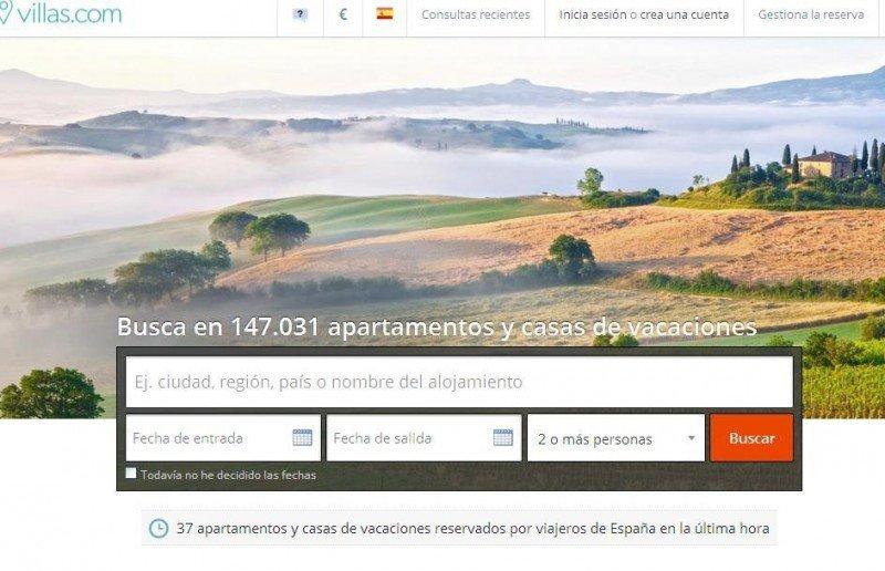 Villas.com, el nuevo portal de Booking dedicado al alquiler vacacional.