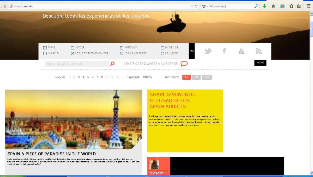 Turespaña y las comunidades autónomas también ofrecen experiencias en sus web.