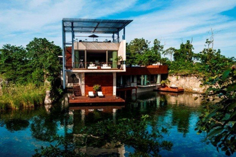 Casa Laguna, una de las villas residenciales de Rosewood Mayakoba Riviera Maya.