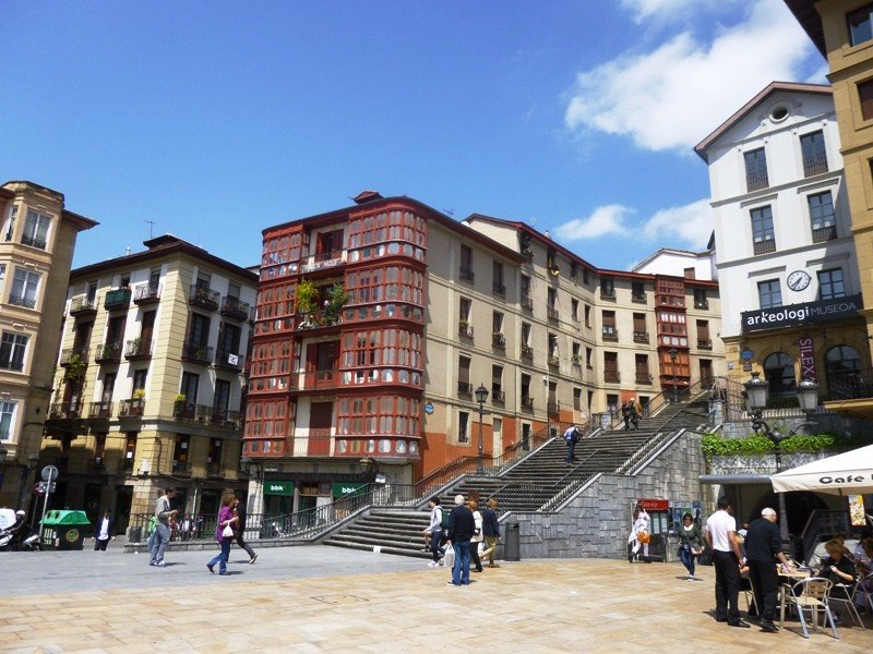 El casco viejo de Bilbao.