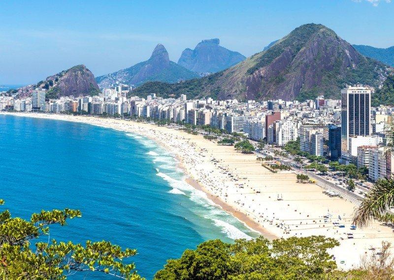 Hoteles en la playa de Copacabana. #shu#.