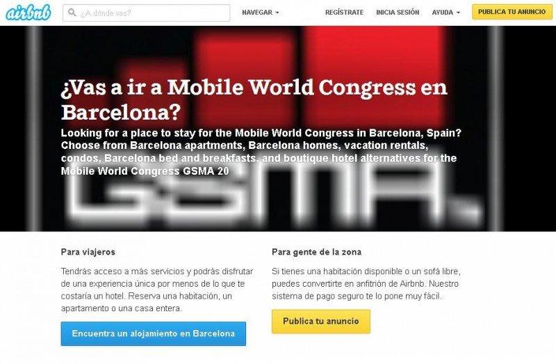 El Barcelona Mobile World Congress, ante la falta de alojamiento para todos los congresistas, llegó a un acuerdo con Airbnb para cubrir esas plazas a un precio asequible.