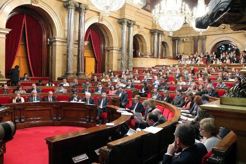 Sesión plenaria del Parlament de Catalunya.