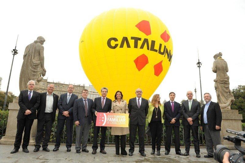 Presentación de la campaña de turismo familiar ayer en Barcelona.