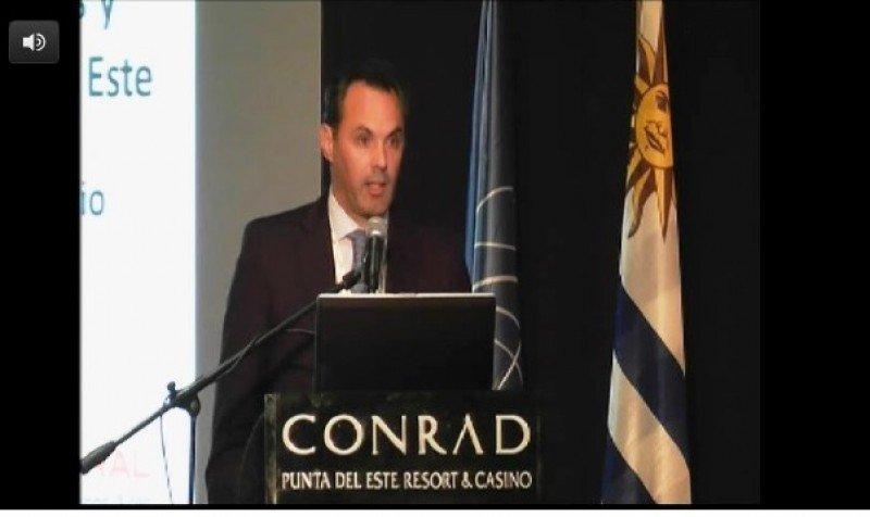 Carlos Solanet, director comercial de La Rural en conferencia en Punta del Este. Foto: UruguayNatural TV