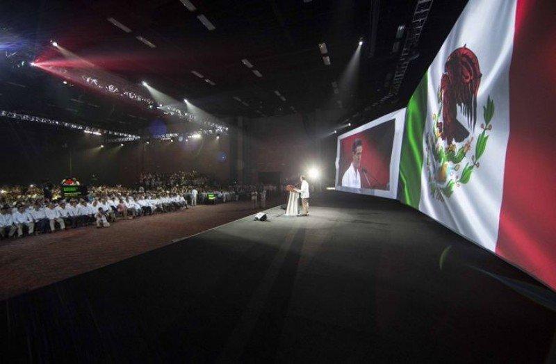 Presidente Enrique Peña Nieto en la apertura del Tianguis Turístico. (Fuente: Presidencia de México).