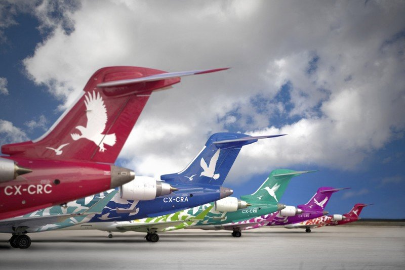 Aviones Bombardier son el principal activo de la ex Pluna: están tasados a entre US$ 10 millones y US$ 15 millones.