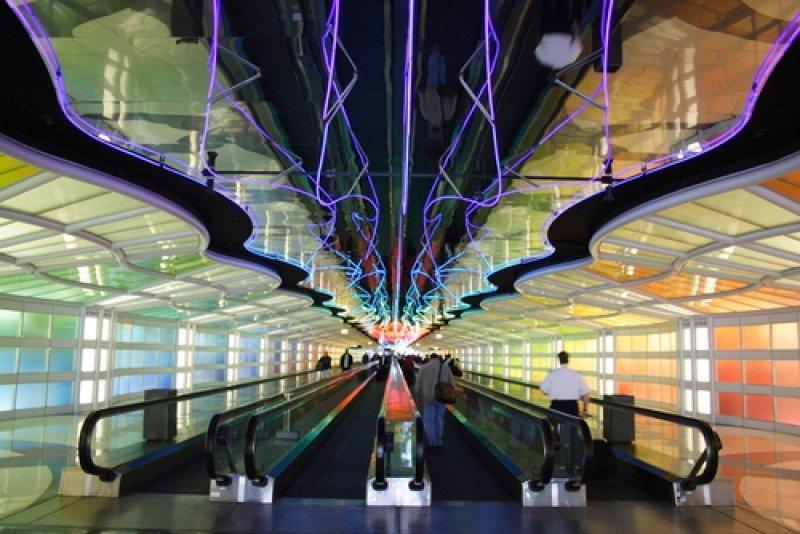 El aeropuerto de Chicago es uno de los que ya impuso el límite de 15 minutos de espera que el gobierno quiere extender a otras terminales. #shu#