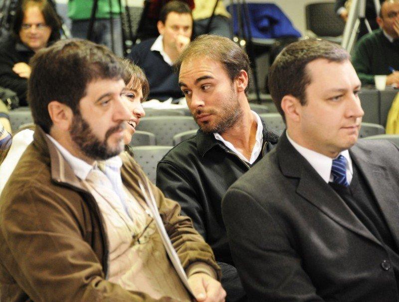 Directivos de Alas Uruguay en la Torre Ejecutiva. Foto: Presidencia de Uruguay (archivo)