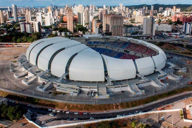 Estadio das Dunas, en Natal, donde Uruguay jugará contra Italia.