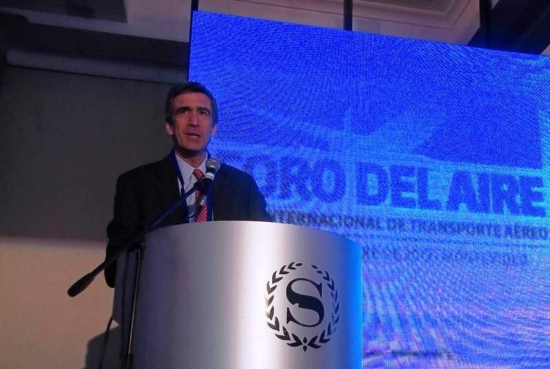 Pedro Heilbron, presidente de COPA, durante su visita a Montevideo en 2013: Foto: archivo HOSTELTUR