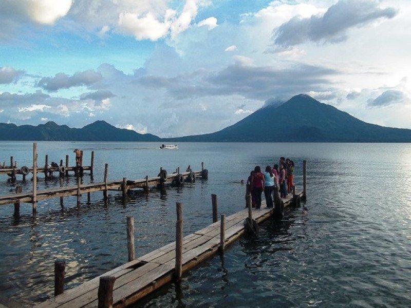 Panajachel, sobre el lago Atitlán, en el centro de Guatemala.