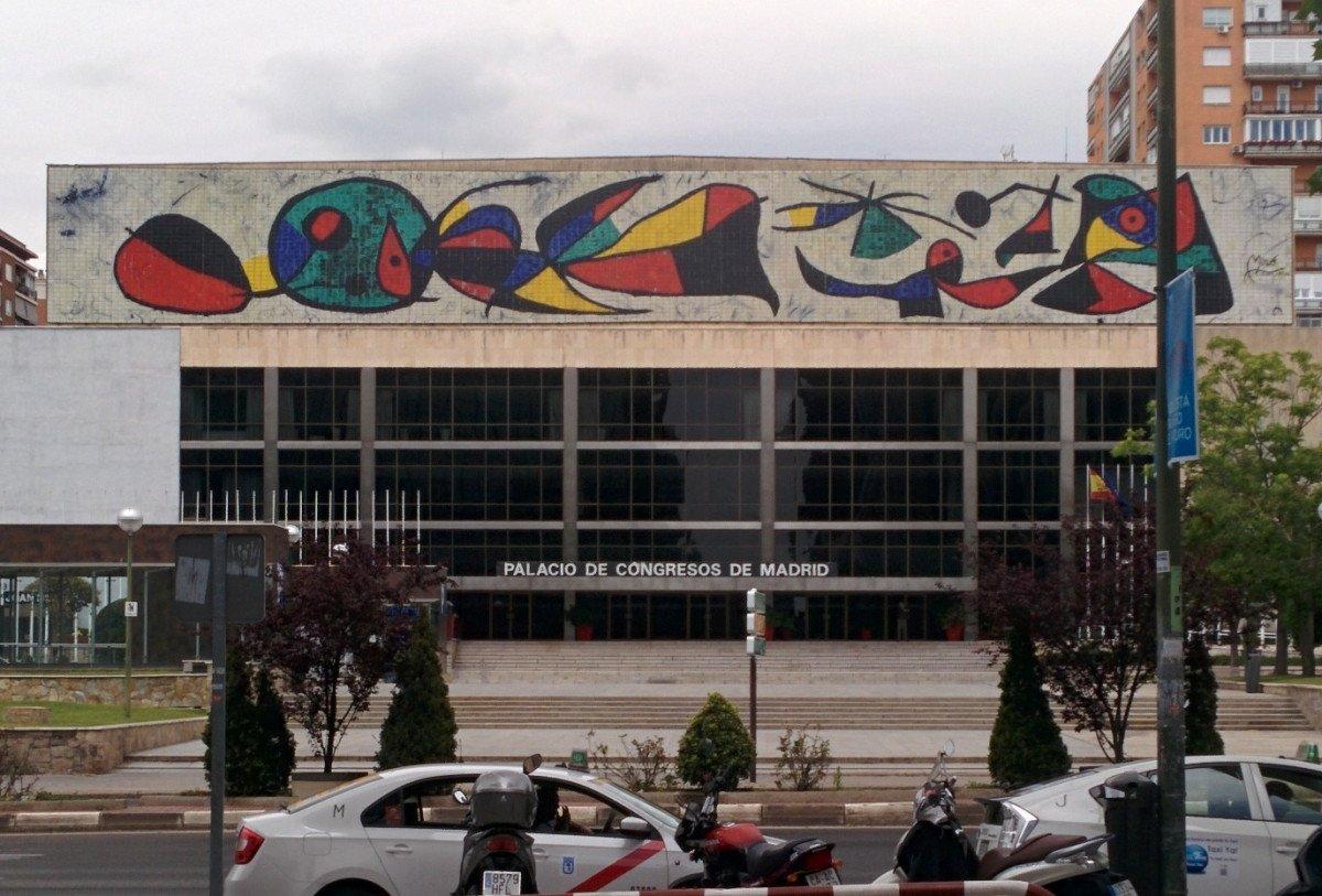 El Palacio de Congresos de Madrid, cerrado desde finales de 2012.