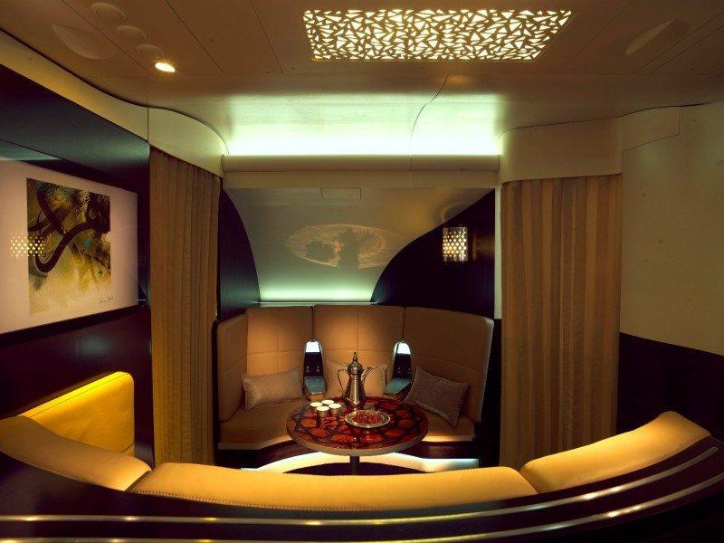Lobby del apartamento de Etihad Airways.