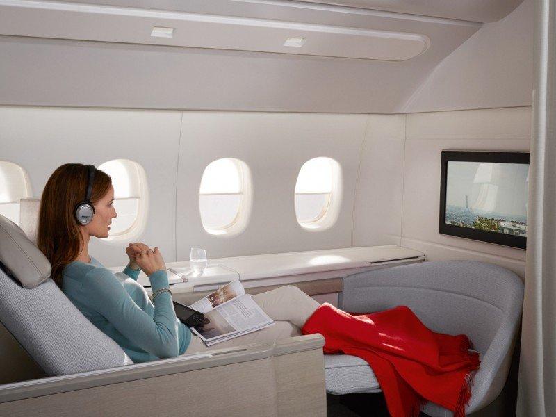 Set de entretenimiento en la Premiere de Air France.