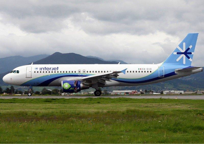 El Airbus A 320 de Interjet.