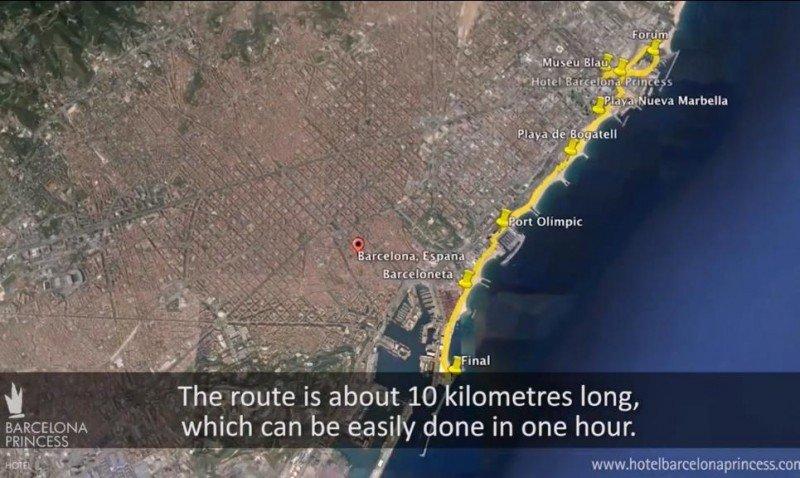 Imagen de la ruta que propone el director del hotel Princess Barcelona, Santiago Hernández.